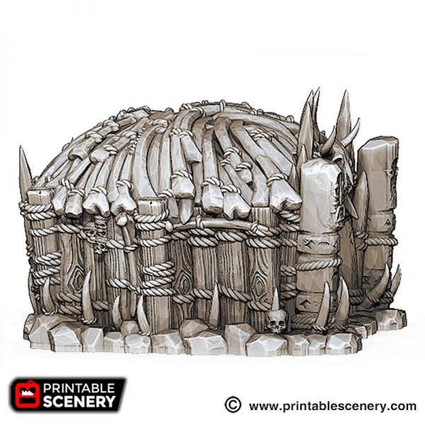3D printed Tribal orcs Hut