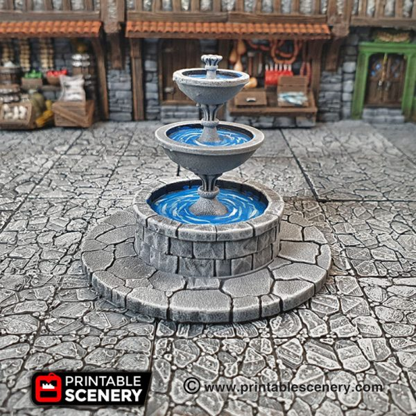 3d Printed Dungeons And Dragons Townsquare Fountain