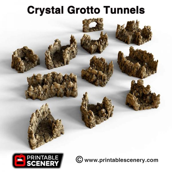 3D Printed Crystal Grotto tunnels Caverns