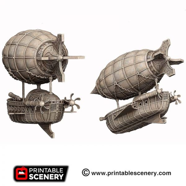 3D printed Dwarven airship