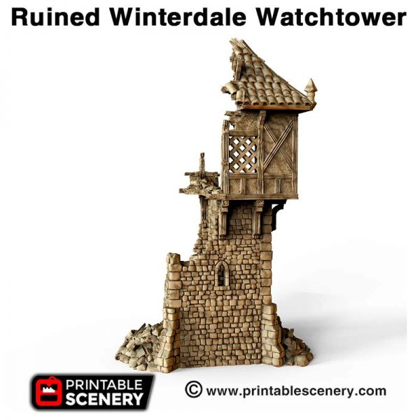 3d ruined Watchtower dnd