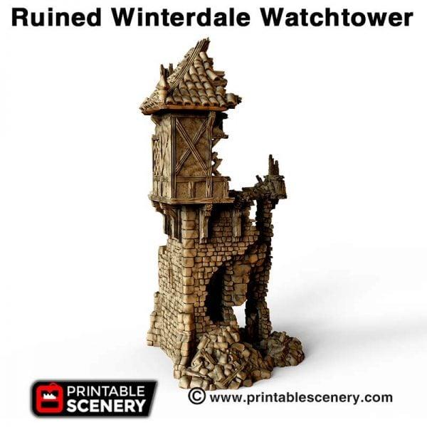 3d ruined Watchtower dnd