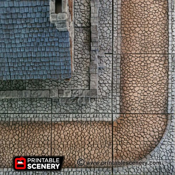 Dungeons and Dragons 3d Printable Streets and Foundations
