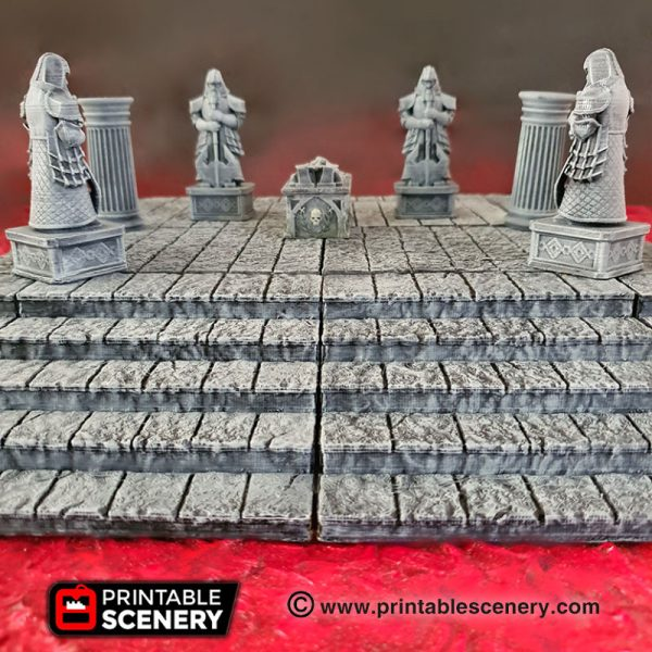 Dungeons and dragons 3d printed modular stone dais