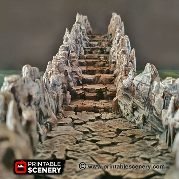 Dungeons and Dragons Grotto cavern ramps and columns