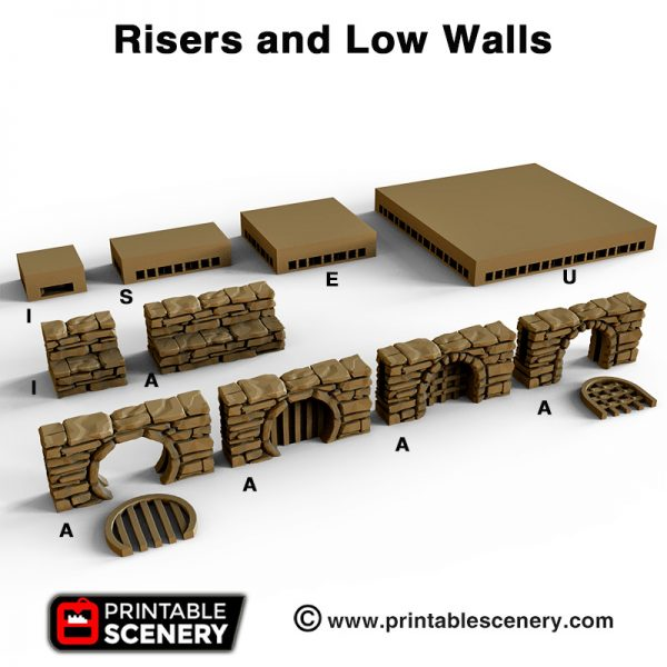 OpenLOCK Low walls and Risers