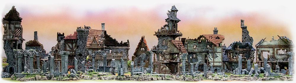 Ruins for 28mm wargames