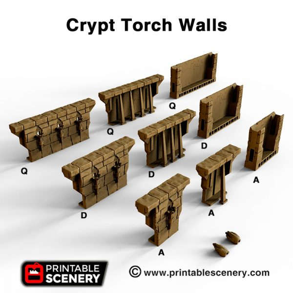 OpenLOCK Crypt Torch Wall