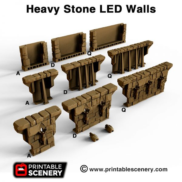 OpenLOCK Heavy Stone LED walls