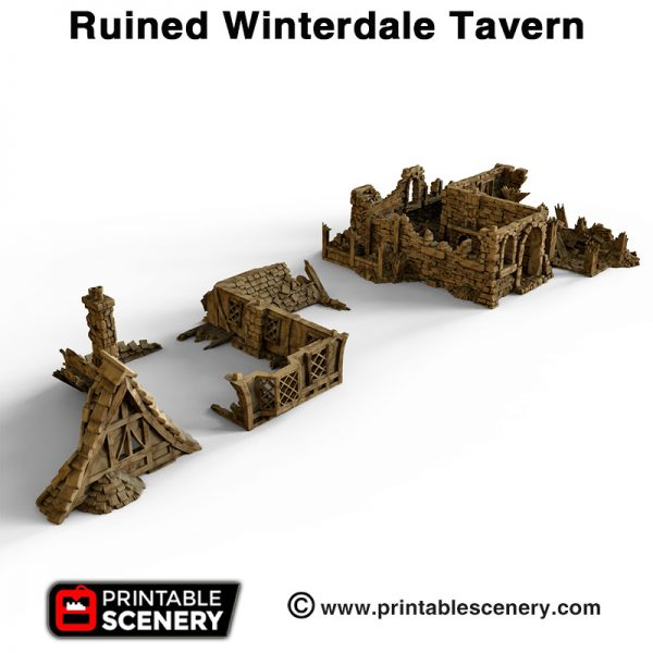 Ruined Winterdale Tavern #d printed