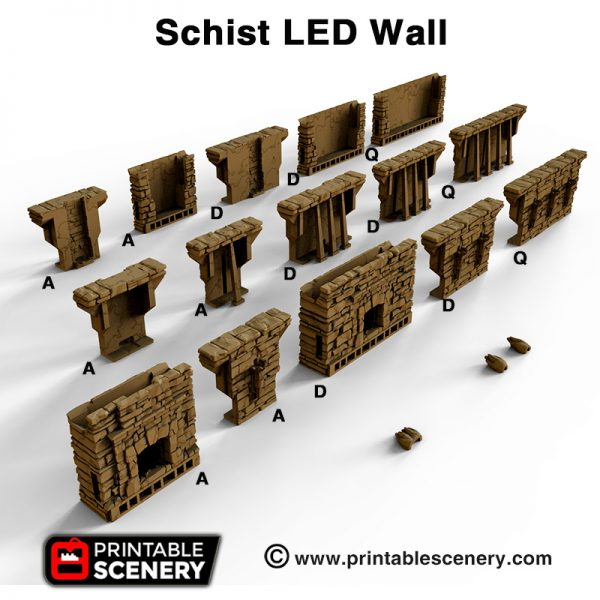 OpenLOCK Schist LED Wall