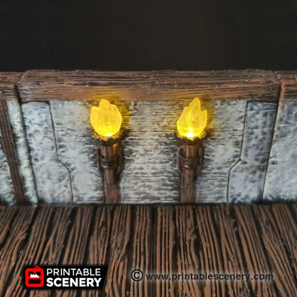 Dungeons and Dragons 3d Printable Torch Walls