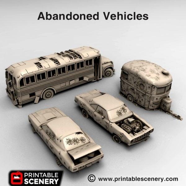 3d print Abandoned vehicles Waste world gaslands