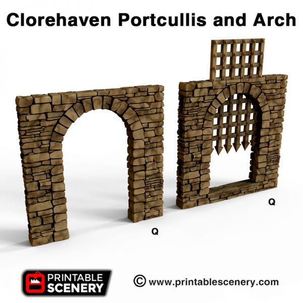 Clorehaven Portcullis and Arch 3dprint