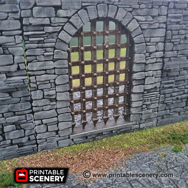Dungeons and Dragons 3d Printable Castle Gate Arch Portcullis