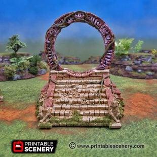 3dprinted Serpahon Lizardmen Mayan Aztec cosmic stargate