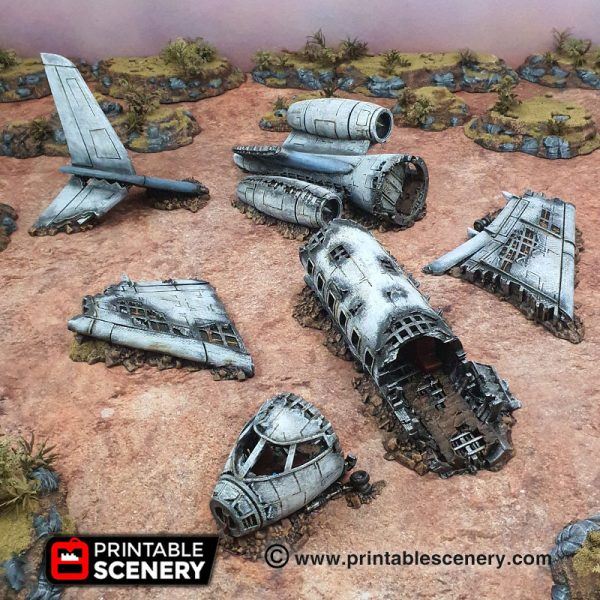 3d Printed Gaslands Fallout Post-Apocalypse Crashed Aircraft