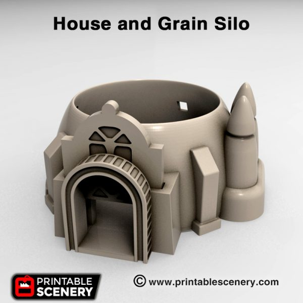3d print House and Grain silo Star wars