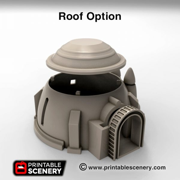 3d print House and grain silo roof option star wars