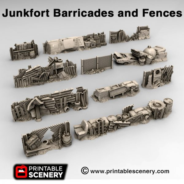 3d print junkfort Barricades and fences