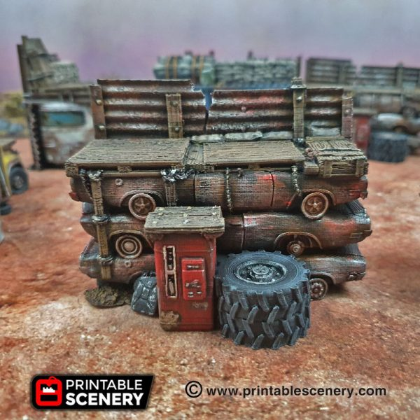 3d Printed Gaslands Fallout Post-Apocalypse Ramparts