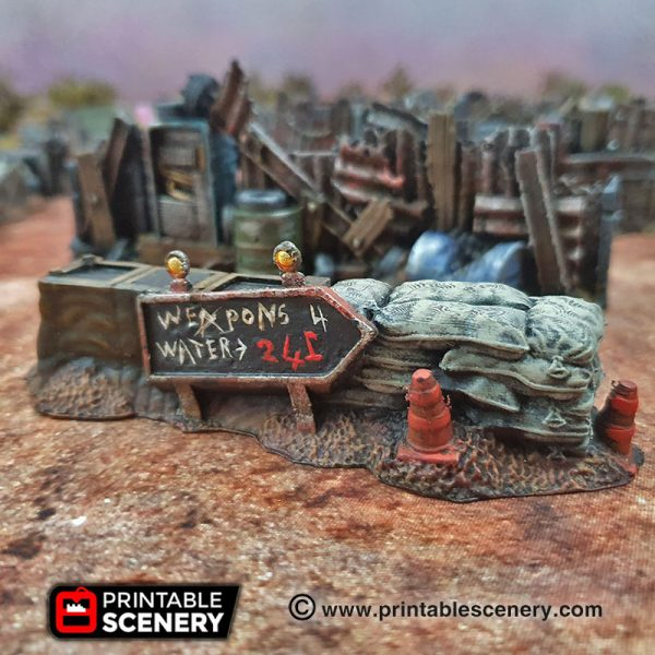 3d Printed Gaslands Fallout Post-Apocalypse Barricades and Walls