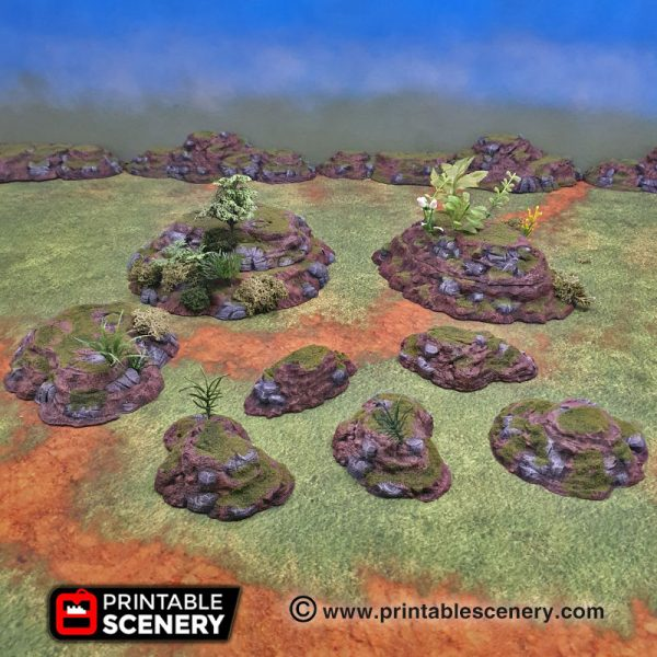 3d printable modular hill terrain
