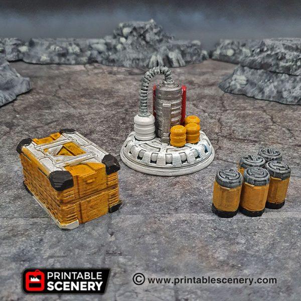 3d Printable sci-fi 40k infinity Moonbase