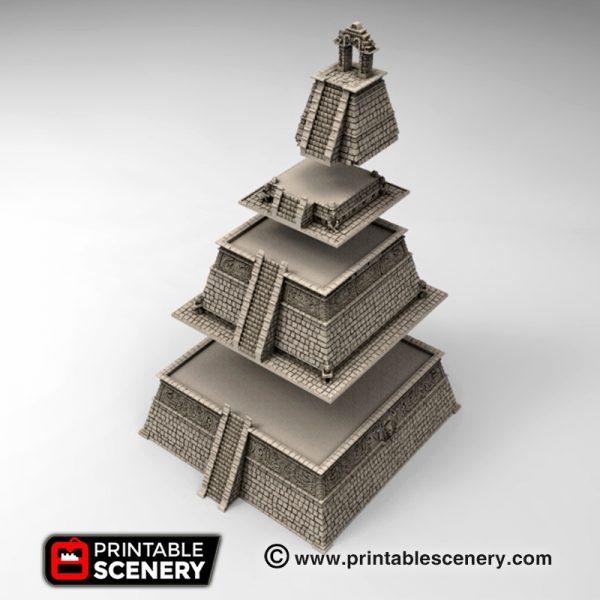 Aspect of the gods 3d print Aztec pyramid