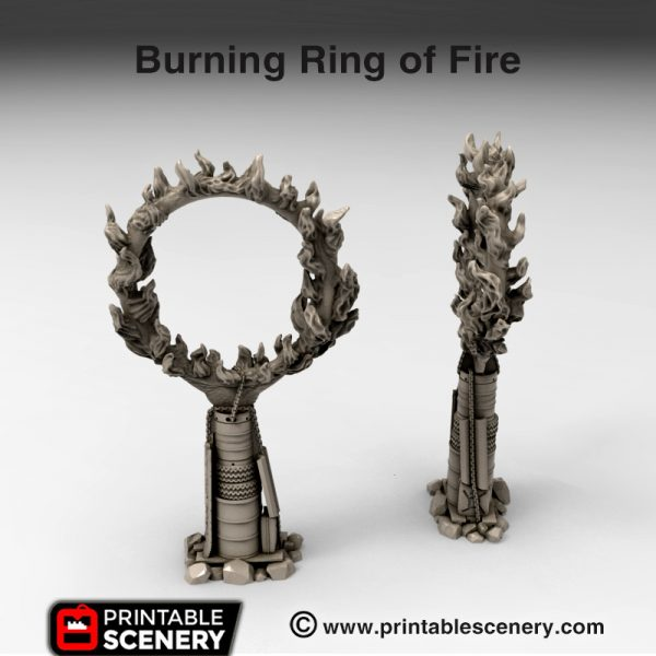3d print Burning Ring of Fire gasland waste world