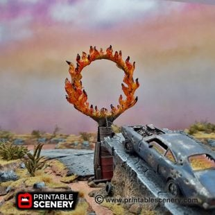 3d Modular Printable Mad max Post-apocalypse Gaslands Ring of fire stunt