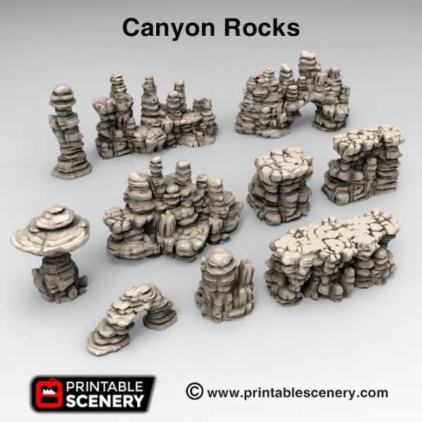 3d print Canyon Rocks