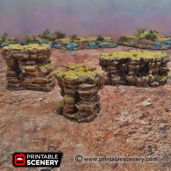 3d Printable Desert Canyon Rocks