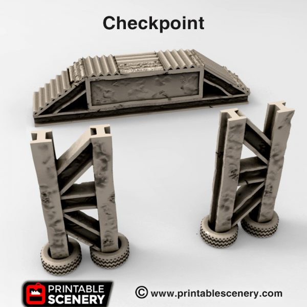 3d print checkpoint gasland waste world