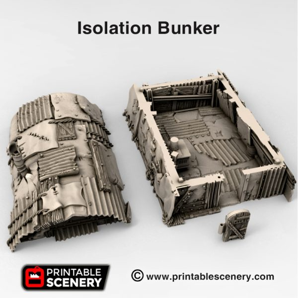 3d print Isolation bunker waste Worlds Gaslands Fallout Post-Apocalypse