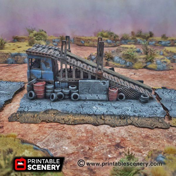 3d Modular Printable Mad max Post-apocalypse Gaslands Stunts