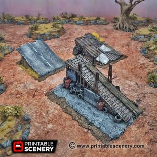 3d Modular Printable Mad max Post-apocalypse Gaslands Stunts