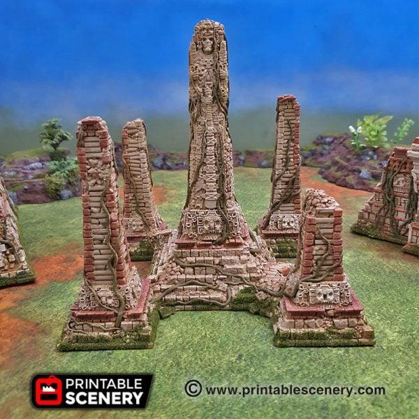 3dprinted Serpahon Lizardmen Mayan Aztec Statue