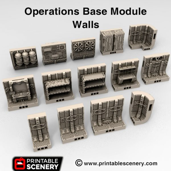 3d print Operations base module space ship
