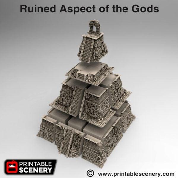 Ruin Aspect of the gods 3d print Aztec pyramid