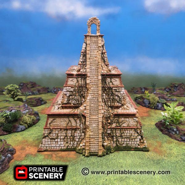 3d printed Serpahon Lizardmen Mayan Aztec Pyramid