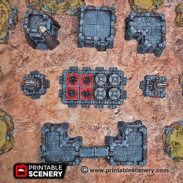 3d Printable Modular Star wars legion Sithic Outpost