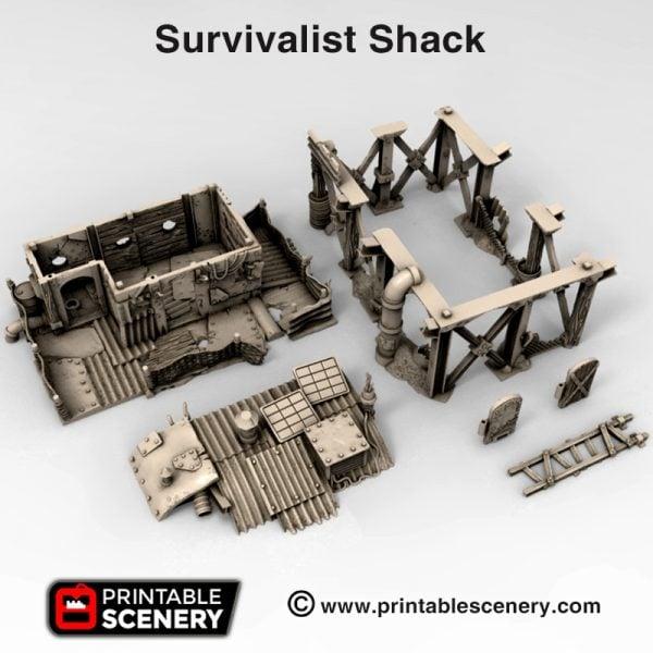 3d print Survivalist Shack waste Worlds Gaslands Fallout Post-Apocalypse