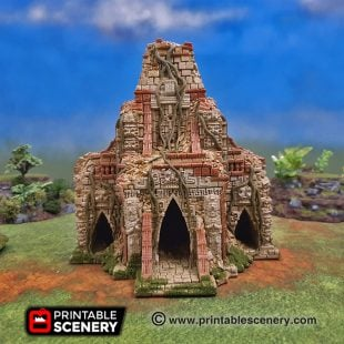 3dprinted Serpahon Lizardmen Mayan Aztec Temple