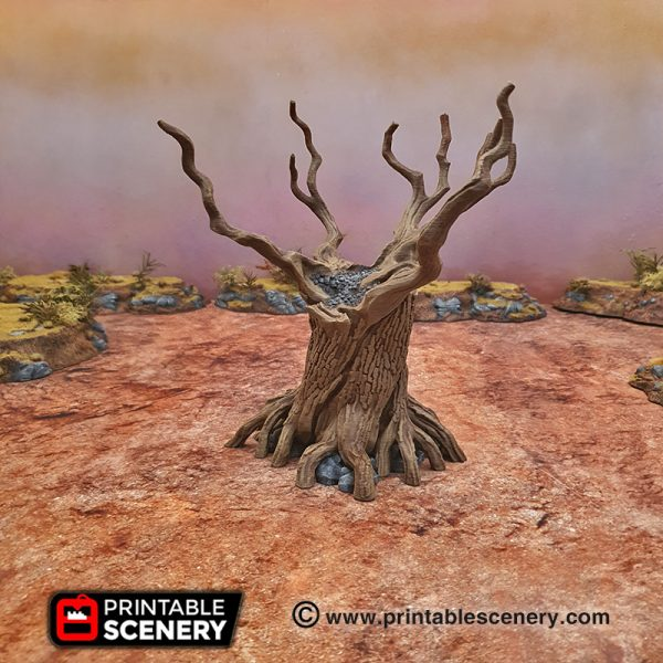 3d Printable Twisted Trees Wasteland Age of Sigmar Terrain
