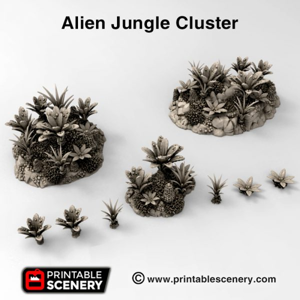 3d Printed Alien Tropical Jungle