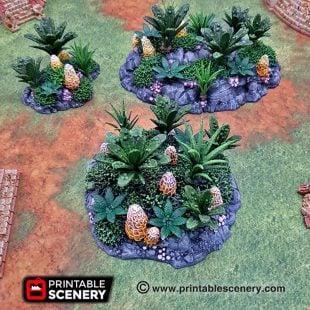 3d Printed Alien Tropical Jungle