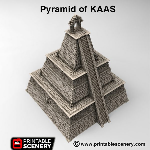 3d printed Pyramid of KAAS Lizardmen Aztec