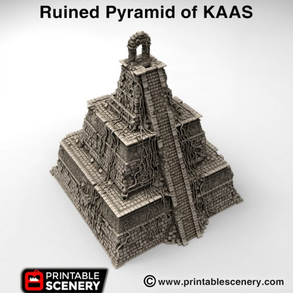 3d printed Ruined Pyramid of KAAS Lizardmen Aztec