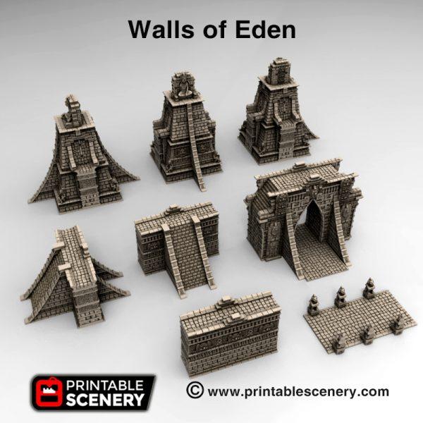 3d printed Walls of Eden Serpahon Lizardmen Mayan Aztec